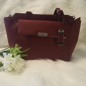NWT chaps burgundy purse